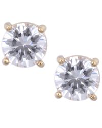 Anne Klein | Metallic Gold Tone Crystal Stud Earrings | Lyst