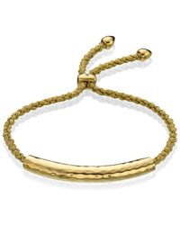 Monica Vinader | Green Fiji 18ct Rose Gold-plated Friendship Bracelet | Lyst