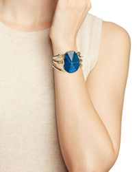 Aqua - Metallic Jeriel Stretch Bracelet - Lyst