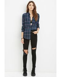 Forever 21 | Blue Tartan Plaid Shirt | Lyst