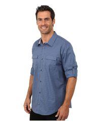 Calvin Klein | Blue End On End Dobby Grid Woven Shirt for Men | Lyst
