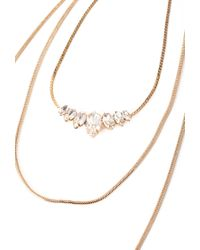 Forever 21 | Metallic Rhinestone Long Chain Necklace | Lyst