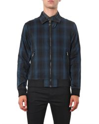 Marc By Marc Jacobs | Blue Renton Plaid Zip Jacket for Men | Lyst