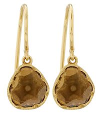 Brooke Gregson - Metallic Rose Gold Diamond Slice Drop Earrings - Lyst