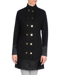 Balenciaga | Black Officer Coat | Lyst