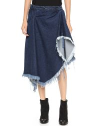 Marques'Almeida | Blue Deconstructed Draped Skirt - Red | Lyst
