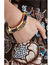 Etro Blue + V&A Gold-Plated, Swarovski Crystal And Resin Bracelet
