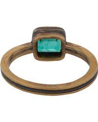Judy Geib - Blue Emerald, Gold & Silver Ring - Lyst