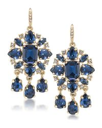 Carolee | Blue Note Teardrop Chandelier Earrings | Lyst