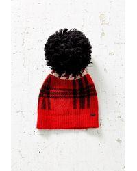 Woolrich | Red Plaid Menswear Pompom Hat | Lyst