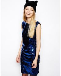 ASOS | Blue Reclaimed Vintage Sequin Dress | Lyst