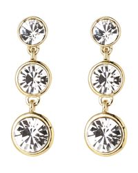 Givenchy | Metallic Gold-Tone Triple Drop Earrings | Lyst