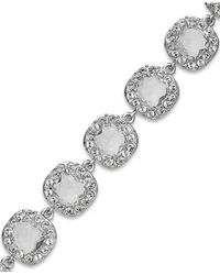 kate spade new york | Metallic Rhodium-plated Crystal Pavé Flex Bracelet | Lyst
