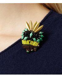 Reiss | Green Vespa Skull Embellished Brooch | Lyst