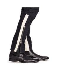 Ralph Lauren Black Label - Black Leather-trim Raider Moto Jean for Men - Lyst
