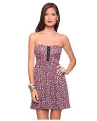 Forever 21 - Multicolor Blooming Corset Sweetheart Dress - Lyst