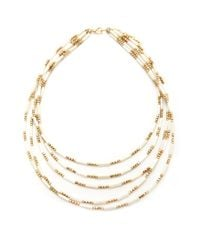 Forever 21 - White Layered Bead Necklace - Lyst