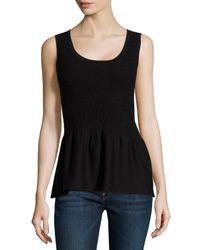Natori - Black Casama Sleeveless Peplum Sweater - Lyst