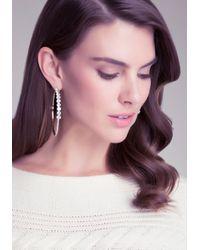 Bebe - Metallic Crystal Lined Hoop Earrings - Lyst