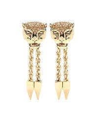 Roberto Cavalli | Metallic Gold-Plated Clip-On Earrings | Lyst