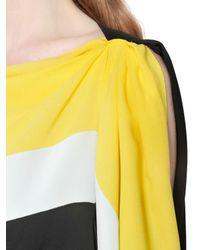 Vionnet - Multicolor Colour Blocked Viscose Jersey Dress - Lyst