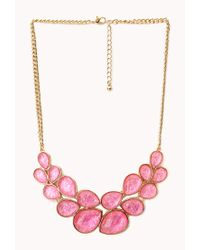 Forever 21 - Pink Statement Bib Necklace - Lyst