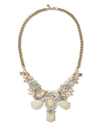 Banana Republic - Multicolor Peaches and Cream Statement Necklace Clear - Lyst