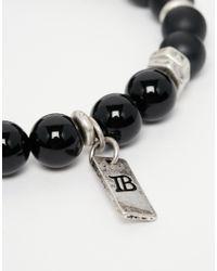 Icon Brand - Beaded Bracelet In Black for Men - Lyst