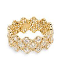 Adriana Orsini | Metallic Pavé Clover Bracelet | Lyst
