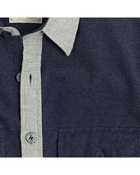J.Crew - Blue Factory Heathered Colorblock Shirt-jacket for Men - Lyst