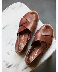 Free People - Brown Jeffery Campbell Womens Emsworth X Slip On - Lyst