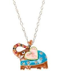 !item - Blue Elephant Pendant Necklace - Lyst