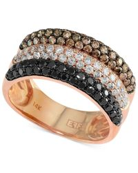 Effy Collection - Confetti By Effy Multicolor Diamond Triple-row Ring (1-3/4 Ct. T.w.) In 14k Rose Gold - Lyst