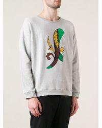 Stella Jean - Gray 'Mattia' Sweatshirt for Men - Lyst