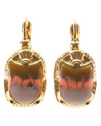 Gas Bijoux - Metallic Scarab Beetle Earrings - Lyst