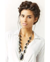 Natalie B. Jewelry | Black Two Raven Necklace | Lyst