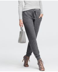 Ann Taylor | Gray Cashmere Pants | Lyst