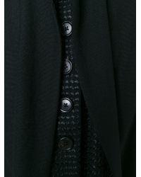 Ann Demeulemeester - Black Band Collar Layered Coat - Lyst