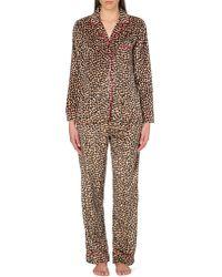 DKNY - Multicolor Checked Flannel Pyjama Set - Lyst