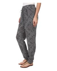 C&C California - Black Printed Rayon Pants - Lyst