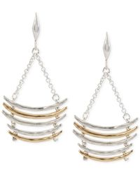 Robert Lee Morris - Metallic Two-tone Multi-row Curved Ladder Earrings - Lyst