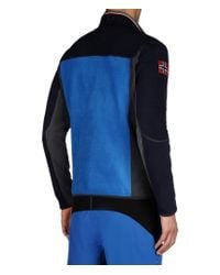 Napapijri | Blue Zip Fleece for Men | Lyst
