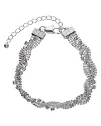 John Lewis   Metallic Entwine Pave Chain Bracelet   Lyst