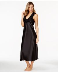 Oscar de la Renta | Black Sleeveless Ruffled Nightgown | Lyst