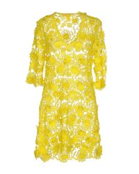 Agogoa - Yellow Short Dress - Lyst
