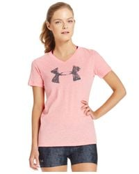 Under Armour | Pink Ua Logo Tee | Lyst