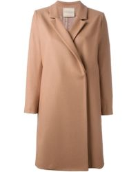Erika Cavallini Semi Couture | Pink Notched Lapel Coat | Lyst