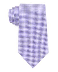 Calvin Klein | Purple Silk Houndstooth Tie for Men | Lyst