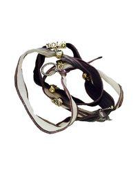 Duchess Of Malfi - Gray Yolo Skull Wrap Bracelet - Lyst