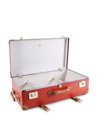"""Globe-Trotter - Centenary 30"""" Extra Deep Suitcase With Wheel - Red - Lyst"""